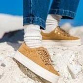 Plato en velours tan de No Name : quel bonheur 😍😍😍 @nonameshoes #shoes #sneakers #shoesaddict #soutienauxcommerçants #colors #automne