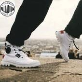 Ce modèle Lite Overlab en toile de Palladium se renouvelle en blanc pour le printemps-été ☀️🌈💛 #sneakers #womenshoes #summer #blackandwhite #fashion www.balka.fr en click&collect ou en livraison