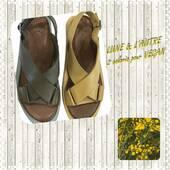 Un petit brin de mimosa pour accompagner ces jolies sandales 🤩🌝🌼 #shoesaddict #chaussuresfemme #yellow #sunrise #sandales @lune_et_lautre_chaussures_